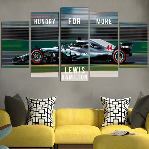 Hungry For More Lewis Hamilton Canvas