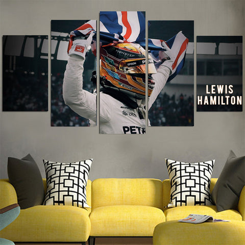 Lewis Hamilton Royal Flag Canvas