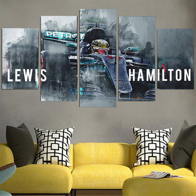 Lewis Hamilton Petronas Car Canvas