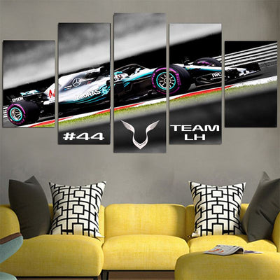 #44 Logo Team LH Lewis Hamilton Canvas