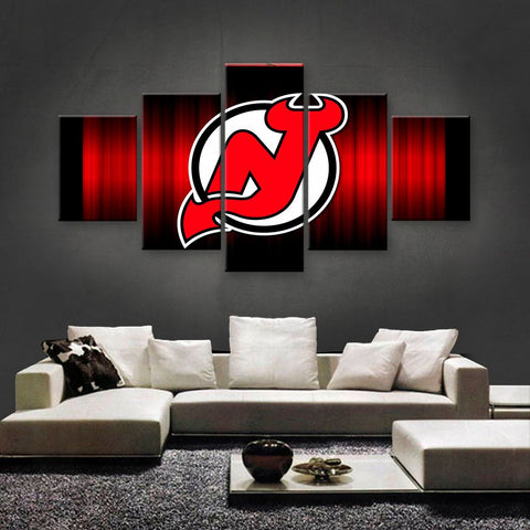New Jersey Devils Power Canvas