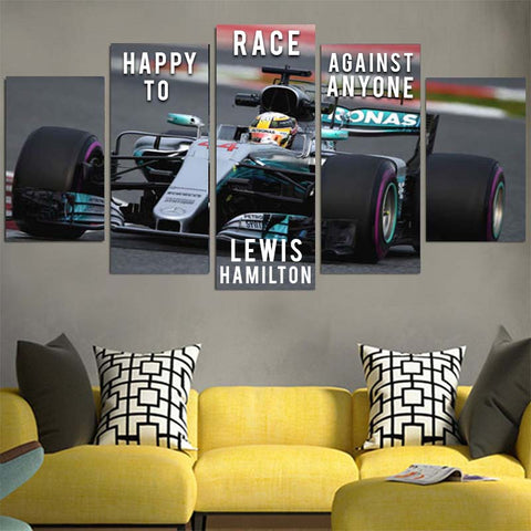 Happy To Race Against Anyone Lewis Hamilton Canvas