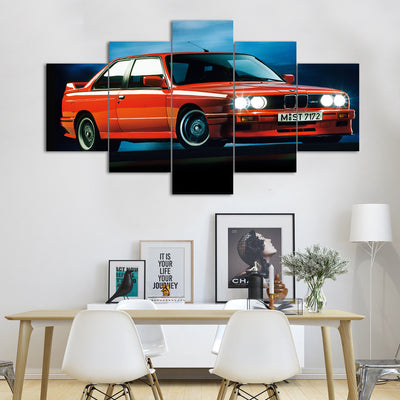 BMW E30 M3 M Series Sports Car Canvas