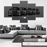 Black BMW Generation 5 Piece Canvas