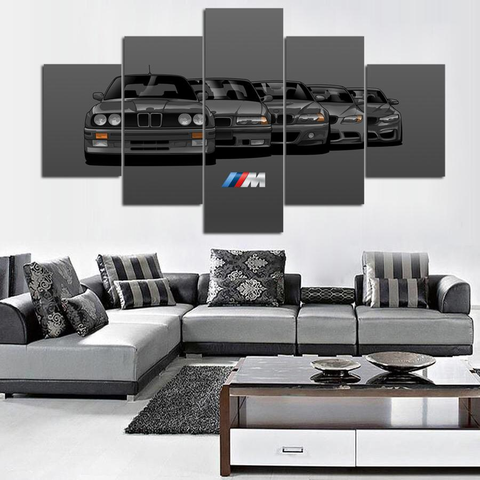Grey BMW Generation 5 Piece Canvas
