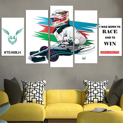 I Was Born To Race And To Win - Lewis Hamilton Canvas