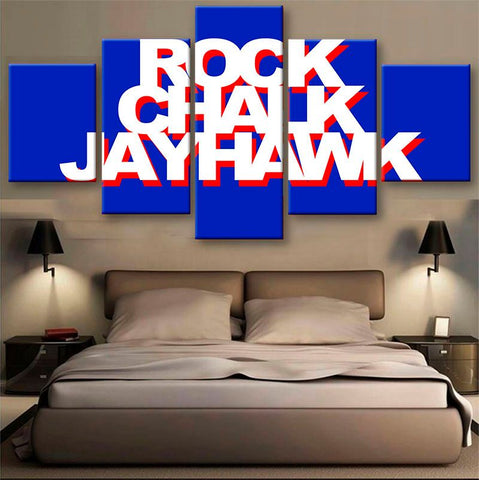 Rock Chalk Jayhawk  Power Canvas