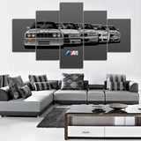 Grey Light BMW Generation 5 Piece Canvas
