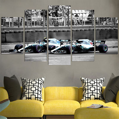 Lewis Hamilton #44 2 Racing Car Canvas