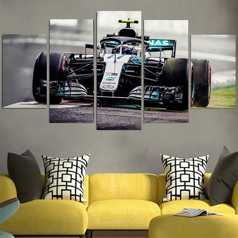 Lewis Hamilton 44 Racing Car Canvas