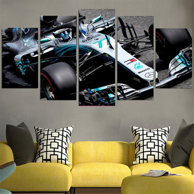 Lewis Hamilton Racing Car Cool Canvas