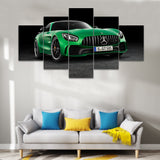 Green Mercedes-AMG GT Sports Car Canvas