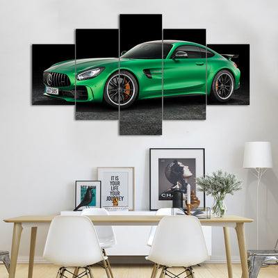Green Mercedes-AMG GT Car Canvas