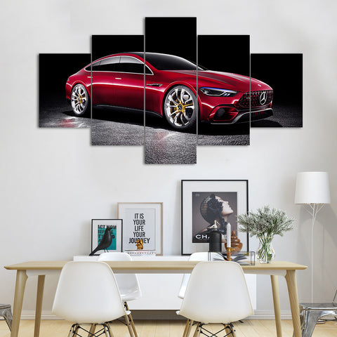 Red Mercedes-AMG GT R Sports Car Canvas