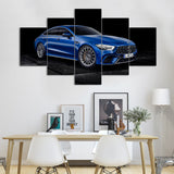 Blue Mercedes-AMG GT R Sports Car Canvas