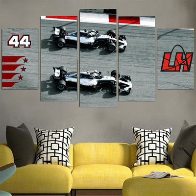 Team LH 2 Cars - Lewis Hamilton Canvas