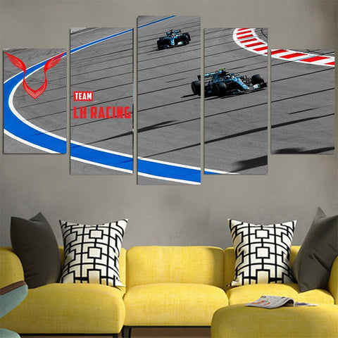 Team LH 2 Racing Cars - Lewis Hamilton Canvas