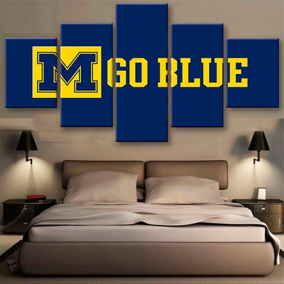 Michigan Wolverines Power Canvas