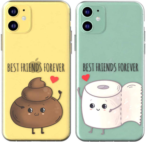 Lex Altern TPU Silicone Couple Case Poop and Helpmate