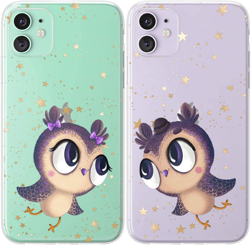 Lex Altern TPU Silicone Couple Case Cute Owls