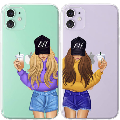 Lex Altern TPU Silicone Couple Case Blonde and Brunette