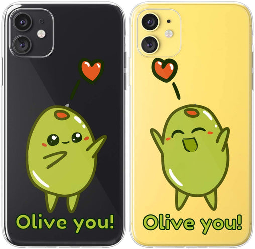 Lex Altern TPU Silicone Couple Case Olive You