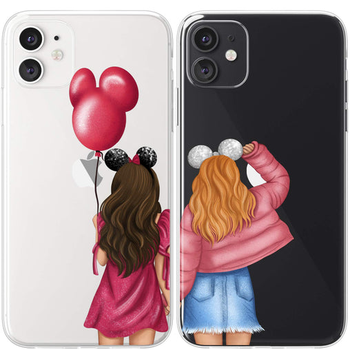 Lex Altern TPU Silicone Couple Case Girls with Balloon