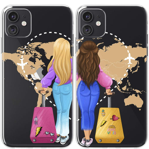 Lex Altern TPU Silicone Couple Case Traveling Friends