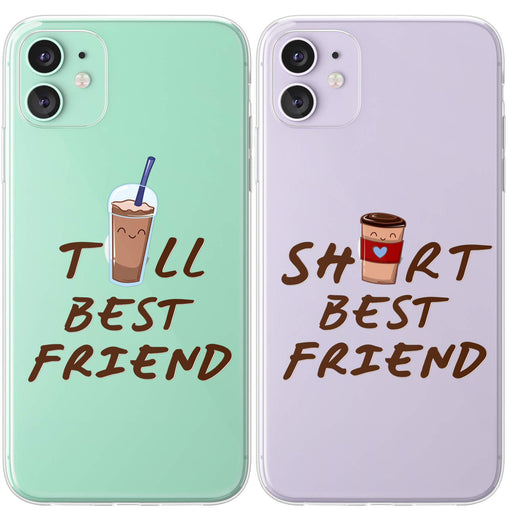 Lex Altern TPU Silicone Couple Case Tall and Short Best Friend