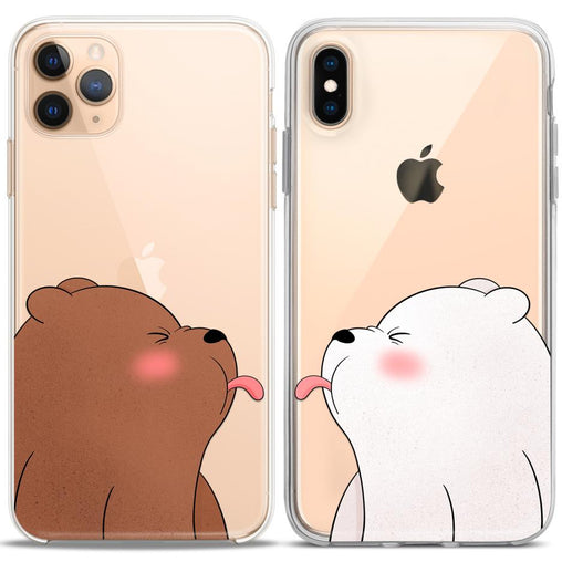 Lex Altern TPU Silicone Couple Case Cute Bears