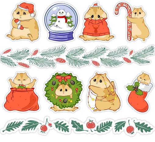 Lex Altern Stickers Set Cute Hamster
