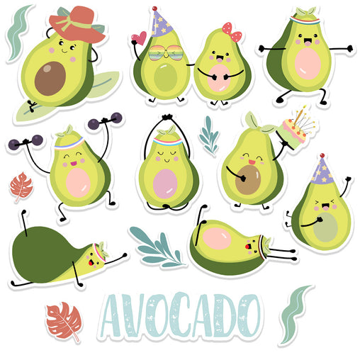 Lex Altern Stickers Set Avocado
