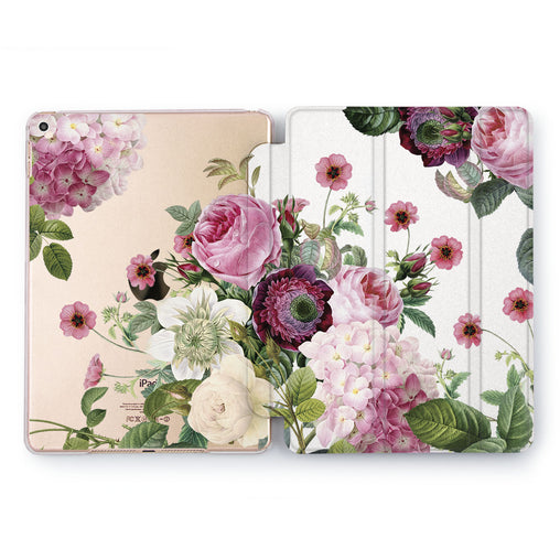 Lex Altern Purple Peonies Case for your Apple tablet.