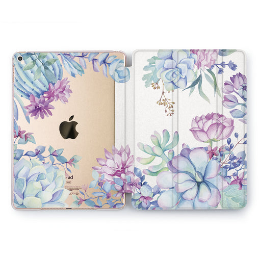 Lex Altern Blue Succulent Case for your Apple tablet.