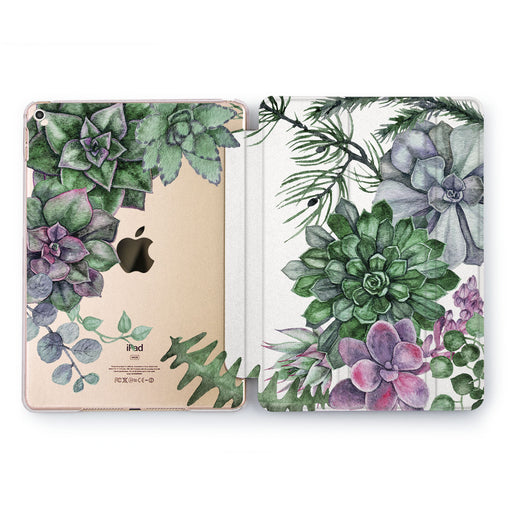 Lex Altern Flower Succulent Case for your Apple tablet.