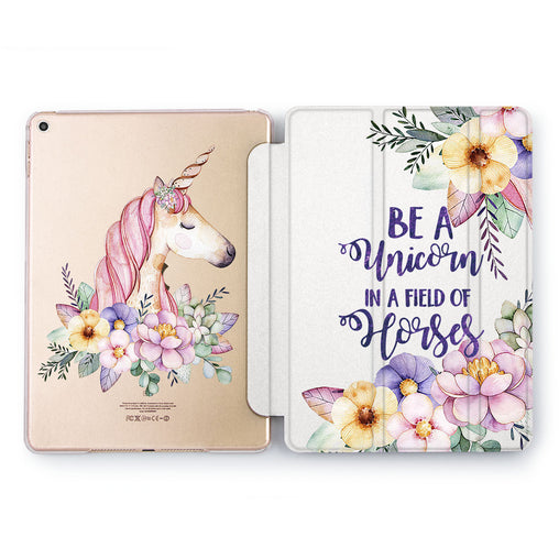 Lex Altern Flower Unicorn Case for your Apple tablet.