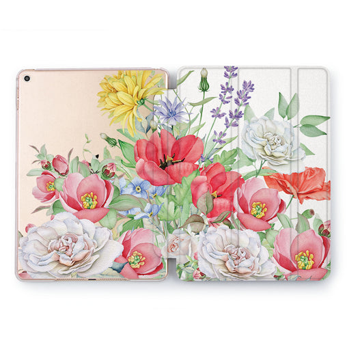 Lex Altern Colorful Flowers Case for your Apple tablet.