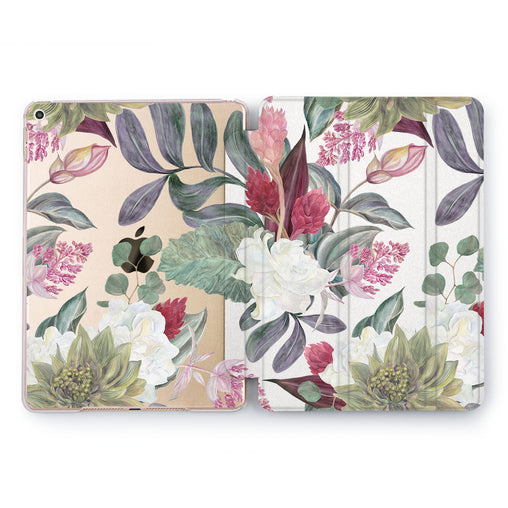 Lex Altern Pastel Plants Case for your Apple tablet.