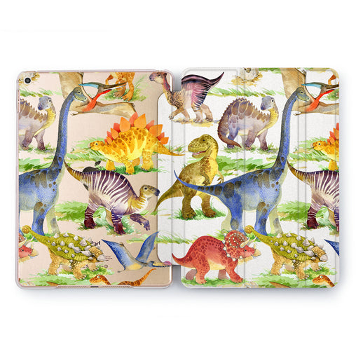 Lex Altern Cute Dinosaur Case for your Apple tablet.