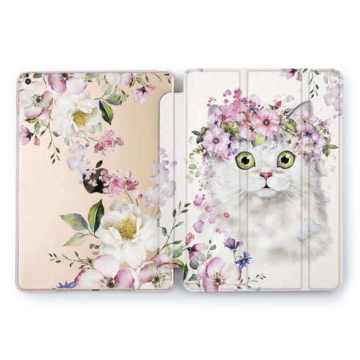 Lex Altern Flower Cat Case for your Apple tablet.