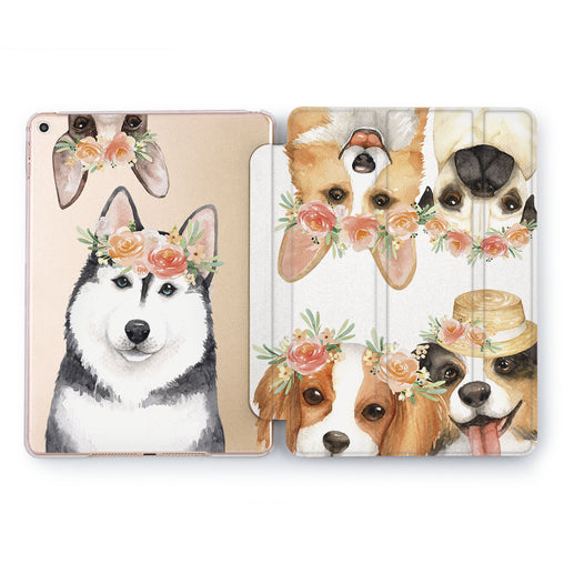 Lex Altern Flower Dog Case for your Apple tablet.