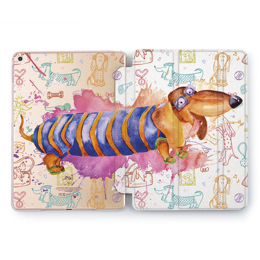 Lex Altern Watercolor Dachshund Case for your Apple tablet.