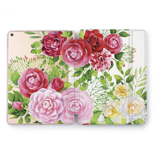 Lex Altern Peony Pattern Case for your Apple tablet.