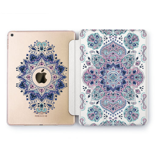 Lex Altern Blue Ornament Case for your Apple tablet.