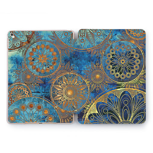 Lex Altern Gold Mandala Case for your Apple tablet.