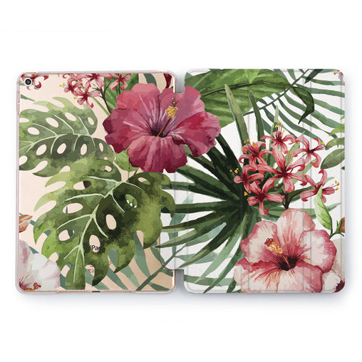 Lex Altern Exotic Flowers Case for your Apple tablet.
