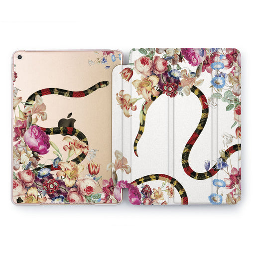 Lex Altern Flowers Serpent Case for your Apple tablet.