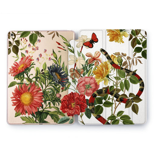 Lex Altern Floral Serpent Case for your Apple tablet.