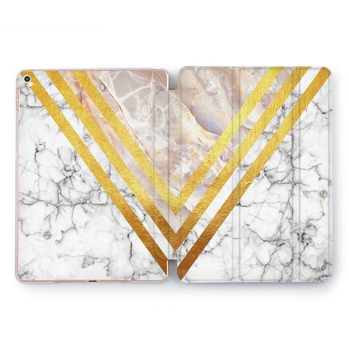 Lex Altern Gold Triangle Case for your Apple tablet.
