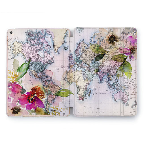 Lex Altern Floral Map Case for your Apple tablet.